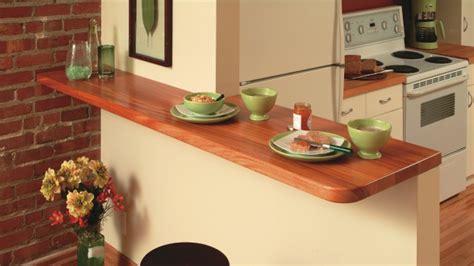 la cuisine du comptoir comptoir lunch en acajou dans la cuisine rénovation