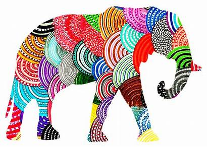 Elephant Elephants Hippie Clipart Trippy Indie Patterns