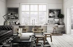 30 black white living rooms that work their monochrome magic for Living room furniture visualizer