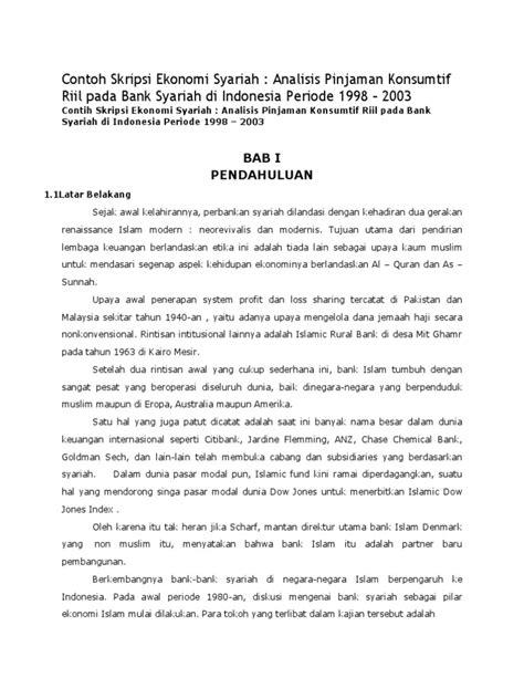 Judul skripsi ekonomi syariah pdf. Kumpulan Skripsi