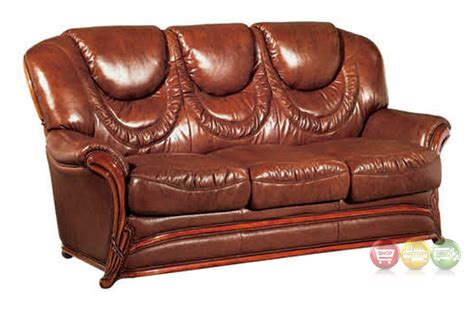 traditional sleeper sofa bed european updated traditional umber genuine leather sleeper