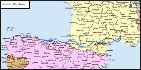 map  france  spain
