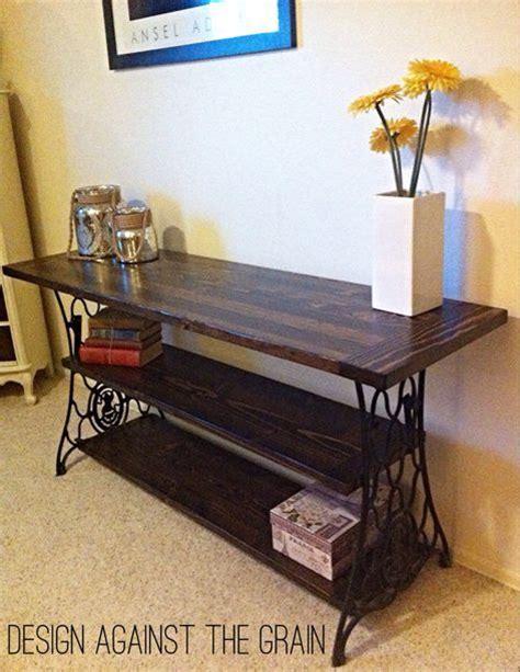 lada da scrivania design repurposed console table from antique cast iron sewing