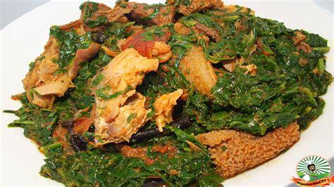 tv cuisine efo riro soup recipe how to cook efo riro soup