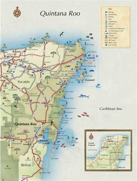 quintana roo mexico map mexico   pinterest
