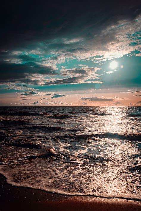 photography  ocean wave  golden hour  stock