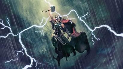 Thor Hammer Thunder Jane Wallpapers Foster Thors