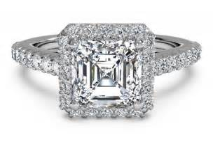 cut halo engagement rings engagement ring settings engagement ring settings for asscher cut