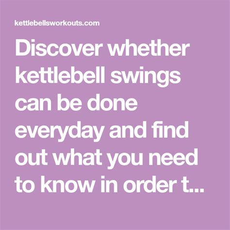 kettlebell swings everyday swing daily done workouts kettlebellsworkouts