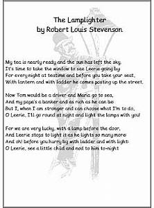 Debbie39s resource cupboard poetry posters and worksheets for Lamp light poem