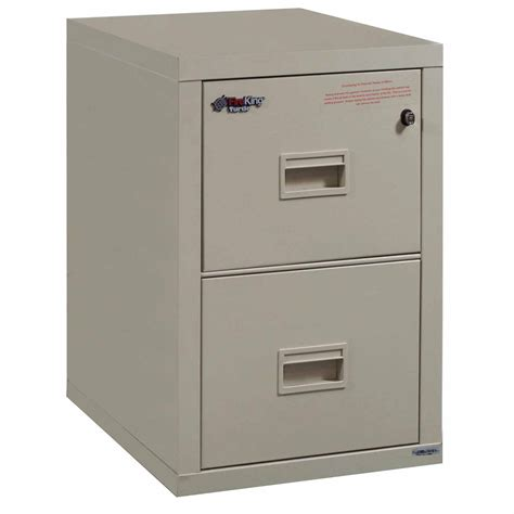 Used 2 Drawer Fireproof File Cabinet by Fireking Turtle Used 2 Drawer Letter Vertical File Putty