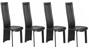 Lot De Chaise Pas Cher Design by Lot De 4 Chaises En Pvc Noir Pas Cher Chaise Design