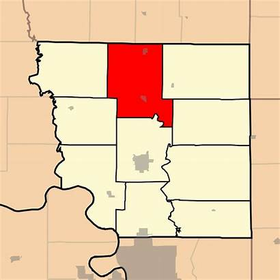 Missouri County Andrew Benton Township Map Highlighting