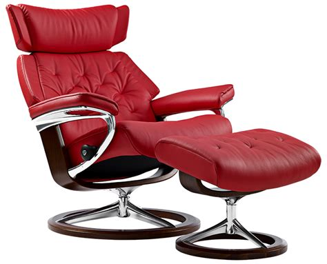 Metro Furniture San Diego by Ekornes Stressless Skyline Leather Recliner And Ottoman
