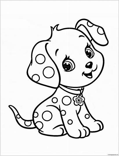 Puppy Coloring Pages Printable Sheets Cartoon Animal