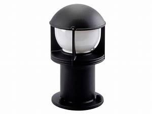 Potelet D Eclairage Exterieur : borne d 39 clairage d 39 ext rieur opus r noir e27 contact sg ~ Premium-room.com Idées de Décoration
