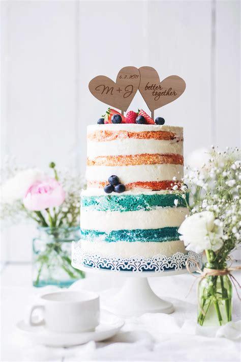 Wood Cake Topper Rustic Wedding Decor Heart Cake Topper