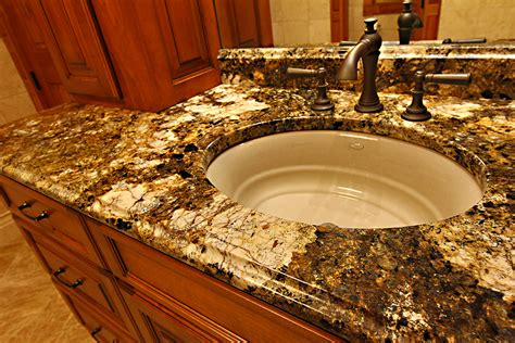 Granite Bathroom Countertops with Sink