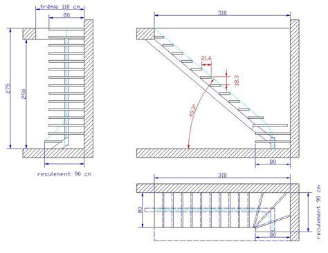 conception escalier acier limon central masion neuve