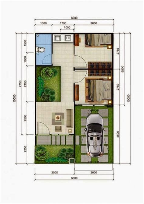 gambar denah desain rumah sederhana