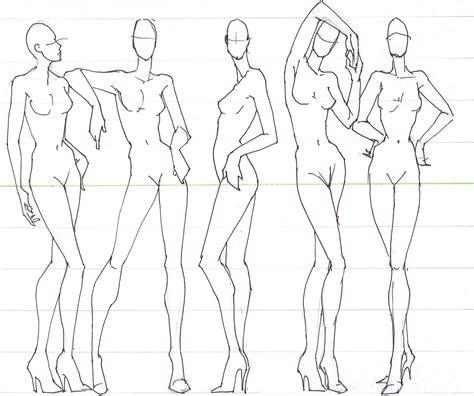fashion model drawing at getdrawings com free for