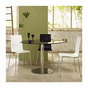 Table De Salle À Manger En Verre : courbe table de salle manger en verre habitat ~ Dallasstarsshop.com Idées de Décoration