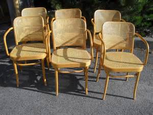 set of 6 thonet prague chairs no 811 by vintagespecialty