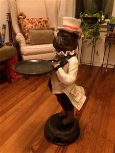 Dog Butler Statue eBay Home decor Pinterest Butler