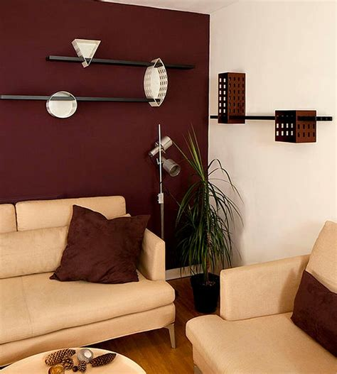 Wohnzimmer Braune Wand by Maroon Wall Modern Living Room Living Room Decor