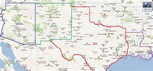 Map Of New Mexico And Texas Aufeus - Road map of new mexico