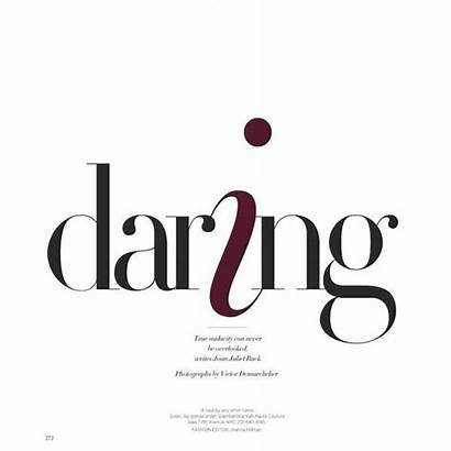 Magazine Bazaar Polyvore Typography Harpers Layout Harper