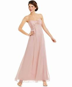 adrianna papell sleeveless floral applique gown dresses With macy s formal dresses for weddings