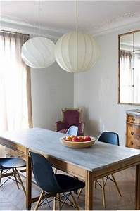 peinture salle a manger couleur gris chaise bleu intense With salle a manger mur gris