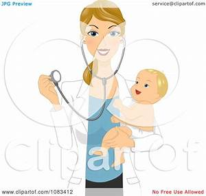Clipart Pediatric Doctor Holding A Happy Baby And ...