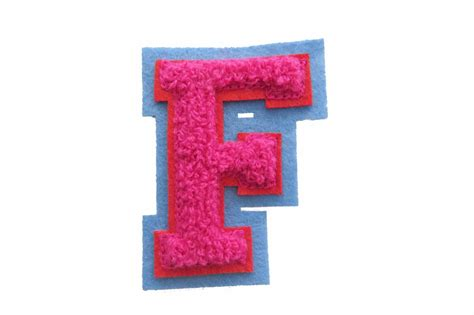 Machine Embroidered Varsity Letter F