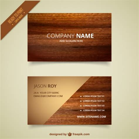 card visit template psd wood wooden business card vector free download