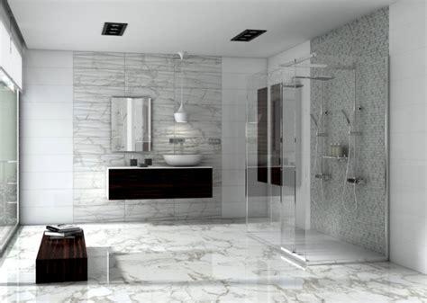 carrara marble bathroom frameless shower