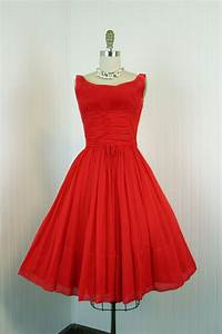 1960s Dress - Vintage 60s Dress - Red Chiffon Party Full ...