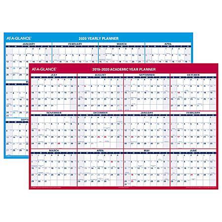 glance month yearly academicregular wall calendar