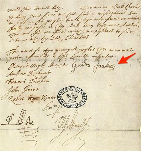 Guy Fawkes Signature Before And After Torture - Business ...