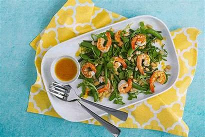 Salad Prawn Healthy Greens Beans Recipe Dinner