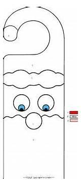 Coloring Printable Pages Door Christmas Hanger Hangers Santa Crafts Claus Decorations Activities Nursing Fastseoguru Desde Guardado sketch template