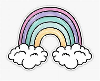 Aesthetic Rainbow Pastel Patch Clipart Clip Unicorn