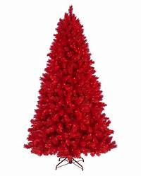 red christmas tree Lipstick Red Artificial Christmas Tree | Treetopia