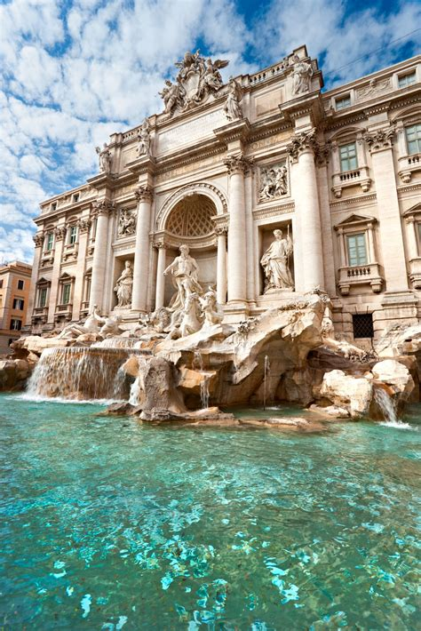 Trevi Fountain Rome Throw One Coin Means Youll Return