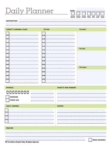 Printable Bill Organizer Chart