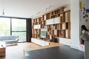 Grande Bibliothque Meuble TV En L