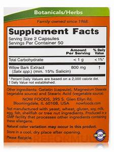 Willow Bark Extract 400 Mg