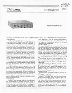 Amplifier 800-40 Manuals