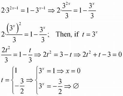 Exponential Algebra Equations Example